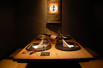 photo of Private rooms installed with horigotatsu