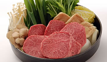 photo of Sukiyaki tender loin course