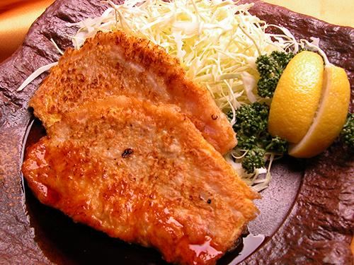 豚肉のマスタード焼き