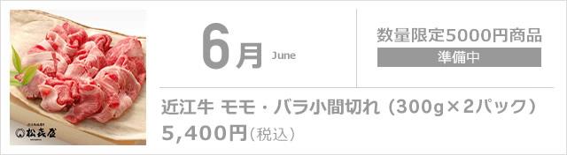 6月 近江牛 モモ・バラ小間切れ(350g×2パック)
